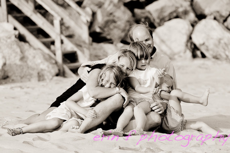 Beautiful beach day= A slice of Heaven- creative Family photography